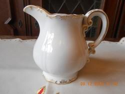 Zsolnay stafír arany tejkiöntő / tejszín kiöntő, teás készlethez