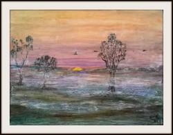 Reggel 30x40-es kép kedvező árral, Károlyfi Zsófia Príma díjas alkotó műve.