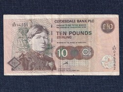 Skócia RITKA 10 font sterling bankjegy Clydesdale Bank 1999 / id 12341/