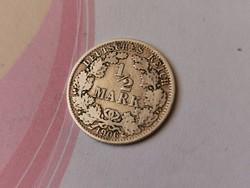"""1906""""A"""" ezüst 1/2 márka 2,777 gramm 0,900"""
