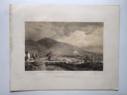 Keleti Gusztáv: Szarvassszőllő. Litográfia az eredeti(!) Tokaj-hegyaljai albumból (Pest, 1867)