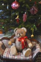 Mérges, toporzékoló, agresszív mackó - antik, retro maci - hisztis ölelős medve, teddy bear játék