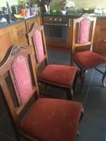 Antik nyitható asztal 6 szék