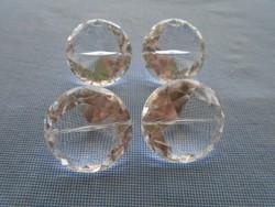 4 db hatalmas szintetikus hegyi kristály briliáns csiszolással  4 cm x 2,5 cm
