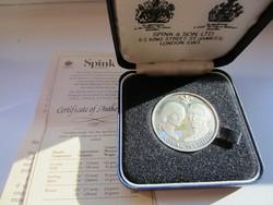 1981 Royal Wedding Diana hercegnő Angol ezüst érme ritka certivel díszdobozban 26gr