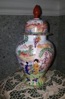 20.század eleji japán kézzel festett váza