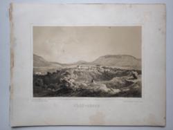 Keleti Gusztáv: Erdőbénye. Litográfia az eredeti(!) Tokaj-hegyaljai albumból (Pest, 1867)