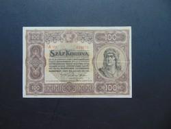 100 korona 1920  A 011 Szép ropogós bankjegy !