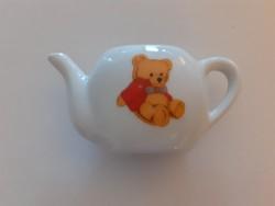 Retro játék porcelán mackós mini teáskanna