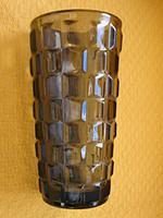 Bohémia Sklo Union füstszínű art deco váza