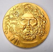 Az 1896-os athéni olimpiai aranyérem másolata.