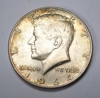 KENNEDY HALF DOLLARS 1964 D