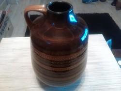 Nagyméretű Német kerámia füles váza