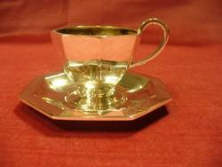 Ezüst kávés csésze mokkás csésze