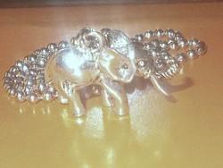 3 D-s Szerencse Elefánt Tibeti ezüst uniszex Nyaklánc