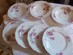 Gyönyörű rózsás tányérok Haas és Czjzek