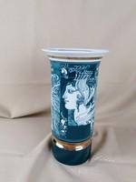 Zöld hollóházi Szász Endre váza