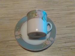 Német Bavaria porcelán kávés csésze kistányéral