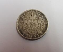 Románia ezüst 200 lei 1942 ( 0.835, 6 g.)