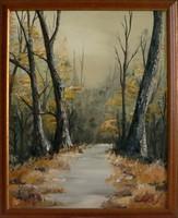 Őszi erdő - zsűrizett olajfestmény