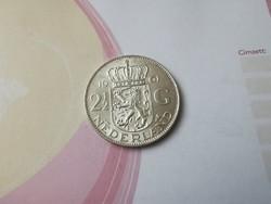 1961 2 és 1/2 holland ezüst gulden 15 gramm 0,720