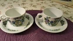 Két gyönyörű Seltmann Weiden, virágos teás/kávés szett, hibátlan állapotban!