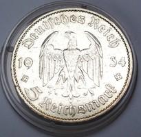 5 birodalmi márka 1934 A,tanúsítvánnyal.