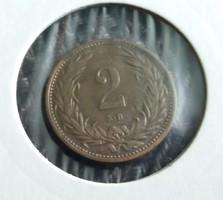 2 Fillér 1914 Vf-.