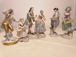 Sitzendorfi porcelán figurák