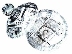 Ólomkristály nagy bonbonier, cukortartó, ékszertartó...mint a gyémánt
