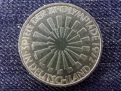 Németország 1972-es müncheni olimpiai játékok .625 ezüst 10 Márka 1972 F / id 14166/