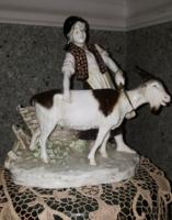 Nagy méretű szignált osztrák porcelán (Bernard Bloch)