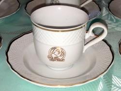 Hollóházi Douwe Egberts porcelán kávés készlet 8 darabos