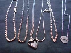 5 db ezüst nyaklánc, 1 db karkötő 925-ös ezüst.Hibátlanok. Ajándéknak.