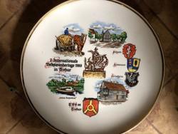 7. Nemzetközi Túranapok 1989-es német porcelán tányér