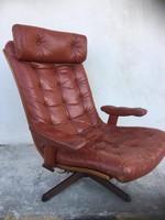 Retro bőr forgó fotel, 5 opció van állítható támlával