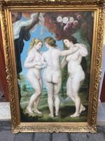 MÁSOLAT!! Rubens : Három Grácia múzeumi másolat