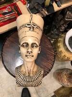 Nefretiti porcelán szobor, 25 cm-es, gyönyörű, hibátlan darab.