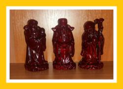 Három bölcs szerencsehozó szobor szett