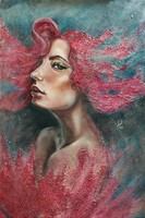 Tar Violetta (Vio) Vénusz születése című festménye