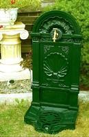 Barokk stílusú - álló falikút - zöld színű