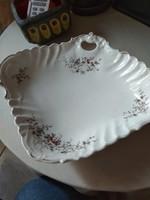 Antik porcelán kínáló,  tál, asztalközép - aranyozott