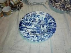 Jelenetes,porcelán  mély tányér....újszerű.