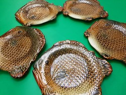 Gránit halas lapostányér,5 db
