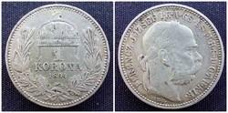 Ferenc József ezüst 1 korona 1894 KB / id 1078/