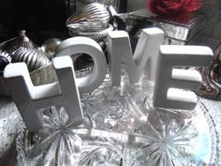 HOME porcelán betűk
