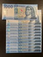 *** 0000083 - as 2017-es 1000 forint sor MINTÁVAL  ***
