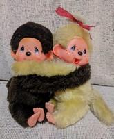 Monchhichi (Moncsicsi) ölelős majmocskák (2 db együtt)