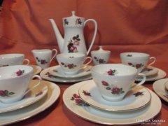 Rózsás Bavaria reggeliző készlet, kávés-teás készlet