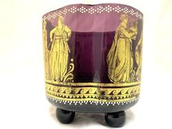 Johann Oertel & Co HAIDA üveg tálka, 1910 körül